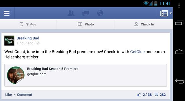 Absender: Bald Fans der Facebook-Seite